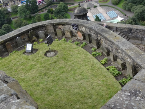 This is actually a pet cemetary at Edinburgh Castle.